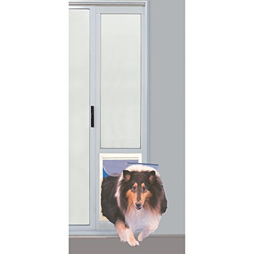 Ideal Pet Products 75PATXLW 75'' Fast Fit Aluminum Pet Patio Door, X-Large/10.5'' x 15'', White by Ideal Pet Products (Image #1)