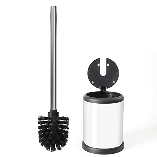 ToiletTree Products Deluxe Toilet Brush with Lid, White