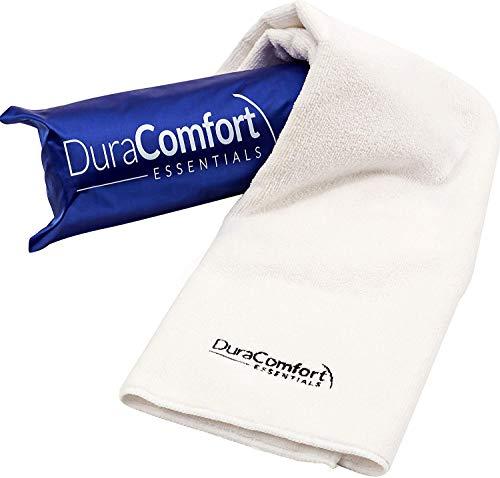 DuraComfort Essentials Super toalla absorbente de microfibra anti encrespamiento del cabello, grandes 41 x 19 pulgadas Blanco