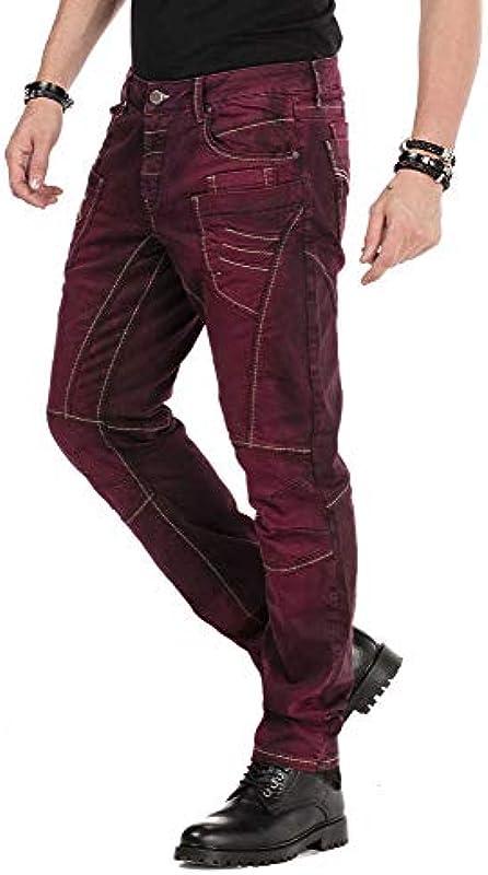 Cipo & Baxx designerskie dżinsy męskie spodnie Denim przyciągają wzrok CD479: Odzież