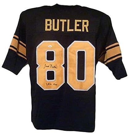 cheaper 0c61a 4a57f Jack Butler Autographed Jersey - Black XL HOF 10761 - JSA ...