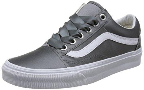 Sneaker Lux Damen Skool Old Vans Satin Grau 6xtY0xwq