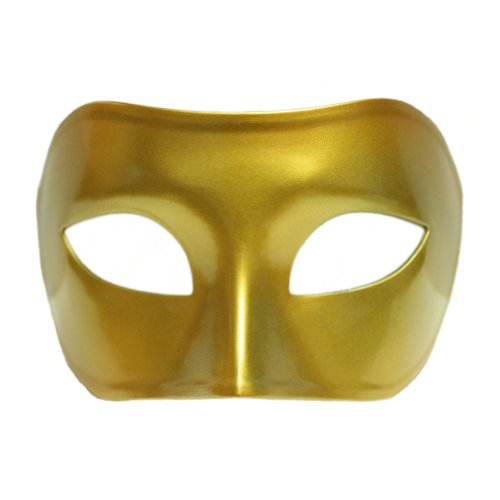 [Gold Venetian Masquerade Mask ~ Mardi Gras Masks (STC10133)] (Ballroom Costume For Men)