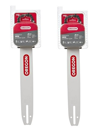 Oregon 14-Inch Bar & 91VG Chain Saw Blade Combination Fits Craftsman, Echo, Homelite, Poulan 27856 (2-Pack)