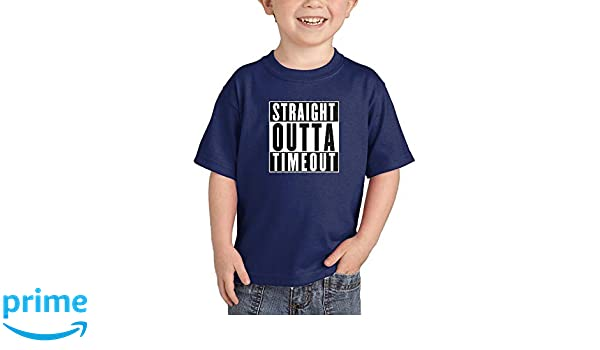 Waldeal Boys/&Girls Straight Outta Timeout Toddler T Shirt Funny Kids Tee 2T-6T