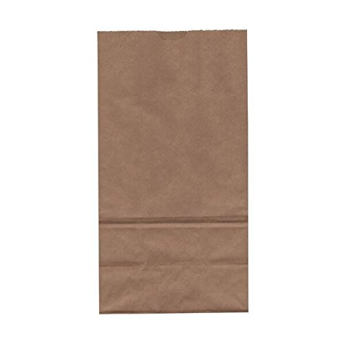 JAM Paper Lunch Bags - Large - 6'' x 11'' x 3 3/4'' - Brown Kraft 100% Recycled - 500/Box