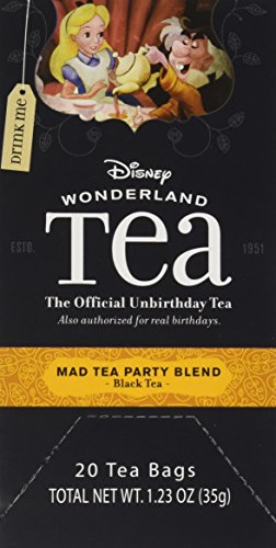 Disney World Parks Exclusive Mad Tea Party Blend Tea Bags Box 20 Count Alice Wonderland Collection - NEW]()