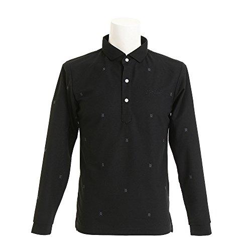 タイトリスト TITLEIST 長袖シャツ?ポロシャツ 総柄刺繍鹿の子ワイドスプレッド長袖ポロシャツ TWMC1705
