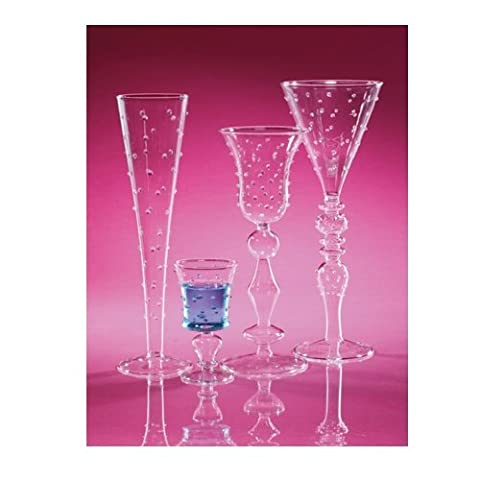 Abigails La Boheme 3-Ounce Clear with Small Liqueur Glass with Dots