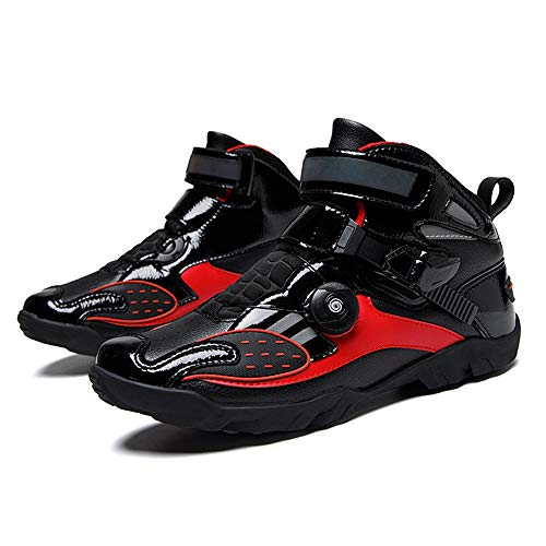 MRDEAR Motorrad Schuhe Sneaker Herren, Motorradschuhe Atmungsaktives Motorrad Stiefel Motocross Kurze Ankle Stiefel…