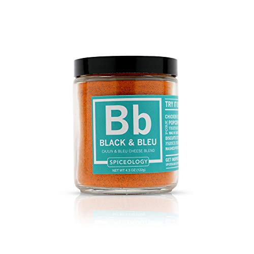 Black & Bleu Rub - Spiceology Cajun & Bleu Cheese Spice Rub - Cajun Seasoning BBQ Rub - 4.3 ounces
