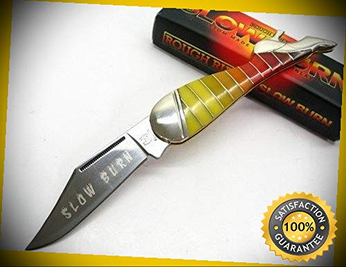 Multi-Color Slow Burn Lady Leg Straight Folding Pocket Sharp Knife 1439 perfect for outdoor camping hunting