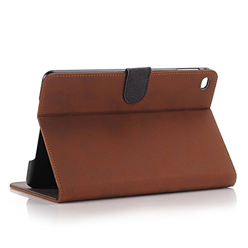Mini iPad 5 Case 2019 Model, YiMiky Slim Folio Shell Smart Stand Case for 2019 Model iPad Mini 5 Ultra Slim Book Cover Protective Case for 7.9 Inch iPad Mini 5/ iPad Mini 4 2015 - Dark Brown by YiMiky (Image #3)