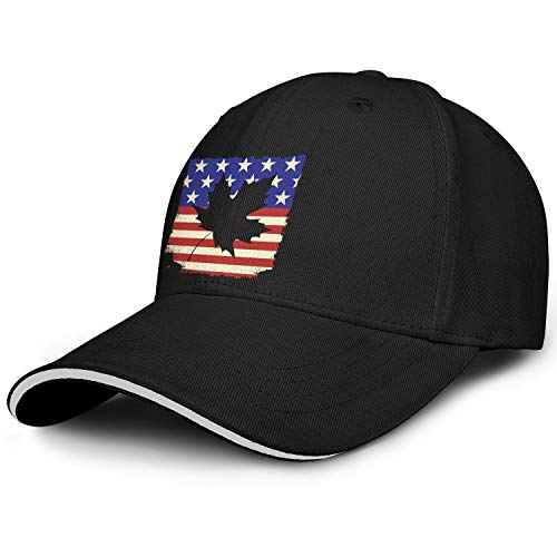Unisex Snapback Hat for Men éˆç§‹ç‡• Canada America Flag (2) Hat Dad Baseball Cap Unisex Adjustable Ball Caps for - Cap Ball Flag Confederate