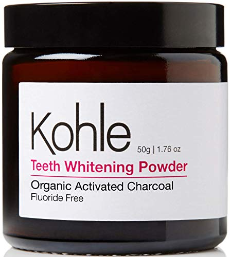 Organic Activated Charcoal Teeth Whitening Powder, 100% Pure, Made in The UK, FDA Approved. Proven to Naturally Whiten Teeth Premium Safety First Glass Jar Packaging - Fluoride Free #1 UK BestSeller
