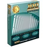 """100 Clear Heavyweight Poly Sheet Protectors by Gold Seal, 8.5"""" x 11"""""""