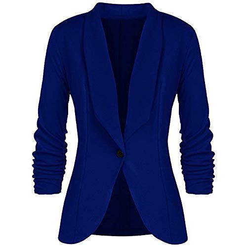 JMETRIE Womens Jacket OL Style Long Sleeve Button Blazer for sale  Delivered anywhere in USA