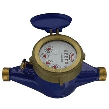 "Dwyer Multi-Jet Water Meter, WM2-B-C-10, 3/4"" BSPT, 5 m3/h, Brass Body"