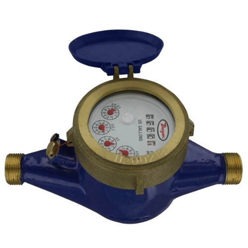 Dwyer® Multi-Jet Water Meter, WM2-A-C-04, 1'' NPT, 50 GPM, Brass Body