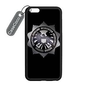 CASECOCO(TM) iPhone 6 Plus Case, Favorate TV Series Agents of Shield Case for iPhone 6 Plus (5.5-inch) - Protective Hard Back / Black Rubber Sides