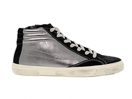 Bikkembergs Men's Bke108250 Silver Suede Hi Top (Bikkembergs Men Shoes)