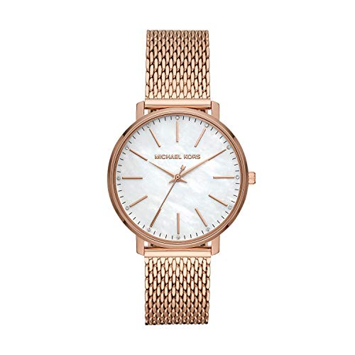 (Michael Kors Women's Pyper Quartz Watch with Stainless Steel Strap, Rose Gold, 18 (Model: MK4392))