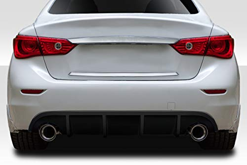 Duraflex Replacement for 2014-2017 Infiniti Q50 VIP Rear Diffuser - 1 Piece