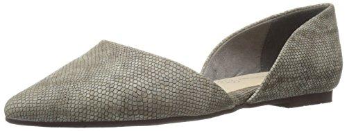 Bc Footwear Flats (BC Footwear Women's Society Lizard Pointed Toe Flat, Grey Lizard, 8.5 M US)