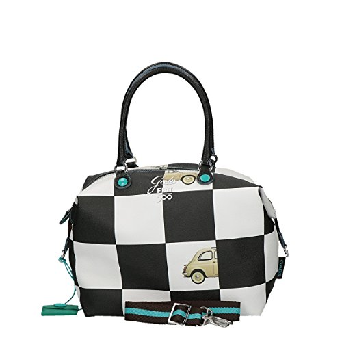 Gabs shopping bag large chess convertible Fiat 500 multicolor
