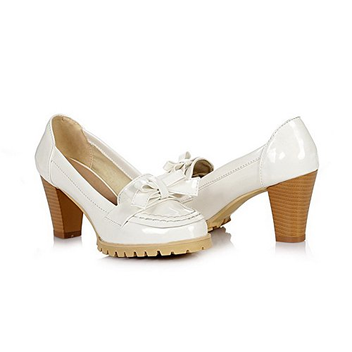 Balamasa Womens Pull On High Heels Solid Pumps Shoes White 8DVYBtQ