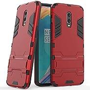 MaiJin Funda para OnePlus 6T / OnePlus 7 (6,41 Pulgadas) 2 en 1 Híbrida Rugged Armor Case Choque Absorción Pro