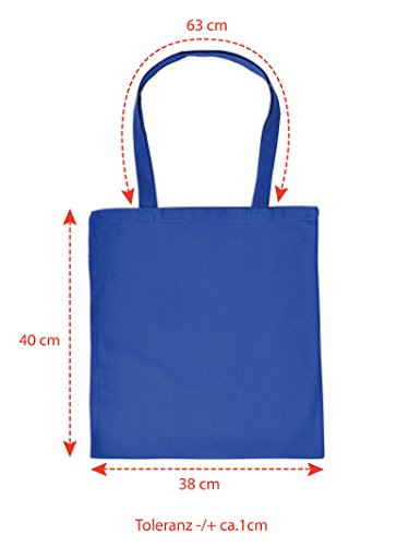 Sensationelle Tasche in royalblau : ATTENTION ! here comes the Master of Dirt !