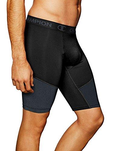Champion Powerflex 9' Men's Solid Compression Shorts, Black, Large