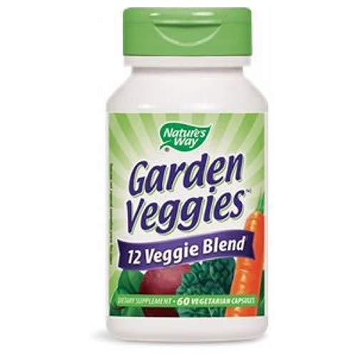 Natures Way Garden Veggies 12 Veggie Blend 60 Vegetarian Capsules, Pack of 3 bottles ()