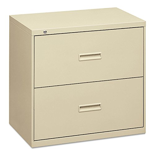 HON Filing Cabinet - 400 Series Two-Drawer Lateral File Cabinet, 30w x 19-1/4d x 28-3/8h, Putty (434LL) ()