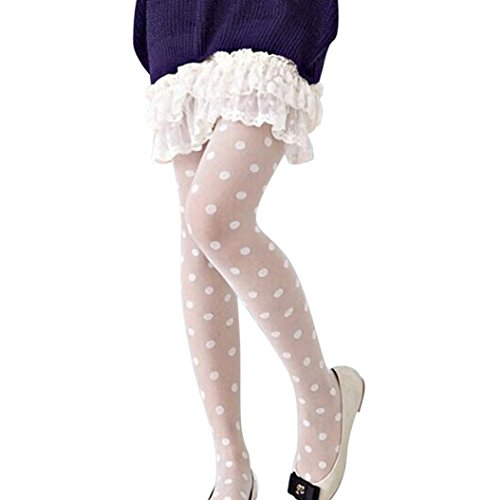 Ankola Clearance Women Sexy Sheer Polka Dot Pantyhose Stockings Tights Dots Socks (White) ()