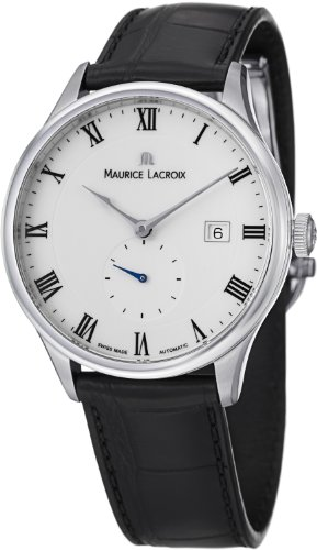 Maurice Lacroix Masterpiece Small Seconde Men's White Face Automatic Watch MP6907-SS001-112