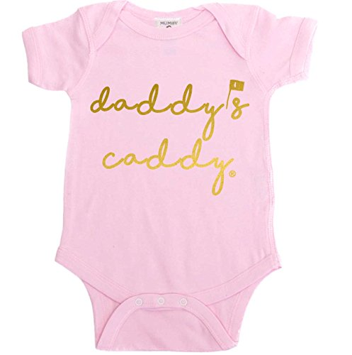Baby Golf Clothes - Mumsy Goose Baby Girl Bodysuit Daddys Caddy Pink Baby Bodysuit