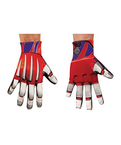 [Optimus Prime Gloves Costume Accessory] (Optimus Prime Adult Costumes Gloves)