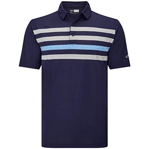Callaway Golf 2018メンズopti-dri Ventilated Chest Stripe Golf Poloシャツ