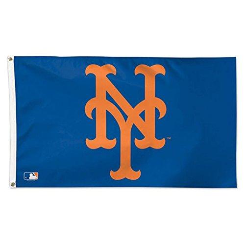 MLB New York Mets 01783115 Deluxe Flag, 3' x 5'