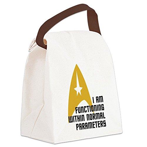 Star Trek Lunch - CafePress - Star Trek - Normal Parameters - Canvas Lunch Bag with Strap Handle