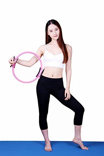 Pilates Ring, Full Body Dual Grip Toning Fitness Magic Yoga pilates Circle 14.5 inch for Stamina Toning Workout