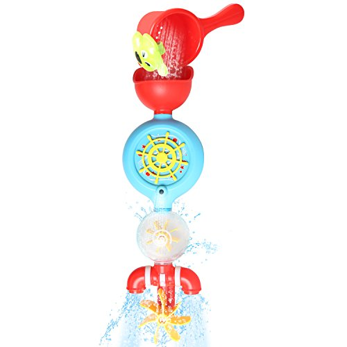 otated Rudder Baby Bath Toys Automated Spout Fountain and Cup Water Shower Spray Station Spinning Waterfall Bathtub Time Flow N Fill Spout(No.9907) ()