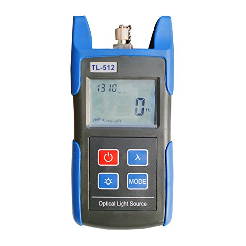 TOMO TL-512 Handheld Optical Power Meter, Laser Light Source Fiber Power Tester, 1310nm to 1550nm Output Wavelength - Batteries Included (SC Connector)