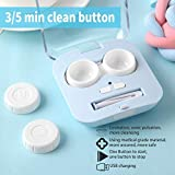 Contact Lens Cleaner, Portable Contact Lens Cleaner Kit Daily Care Faster Cleaning for Contact Lens