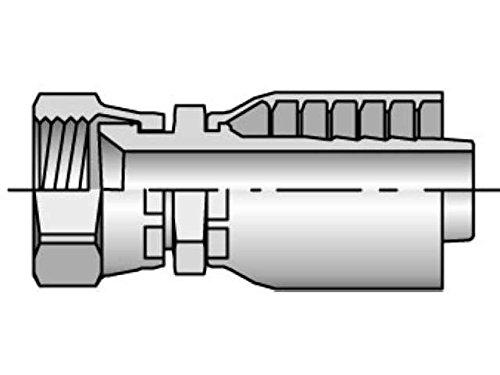 Parker 10643-5-4 Female Swivel Adapter 5/16 JIC X 1/4 Hose Steel