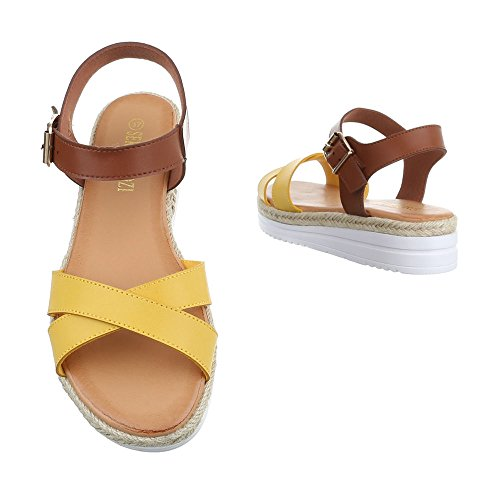 Ital-Design - Sandalias Romanas Mujer Gelb WS-011