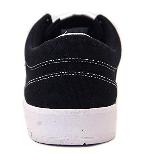 Supra Ineto Heren Ronde Neus Lederen Zwarte Skate Schoen Zwart / Wit 2