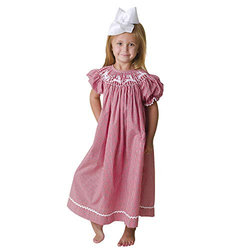 Dovie Jane Santa Sleigh Hand Smocked Bishop Dress Girls 12m-5y